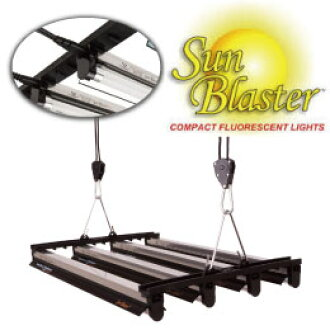 SunBlaster T5 LightStripHanger-T5HO(熒光燈)的挂起來,能設置,用具,最大7是Grow Fluorescent Lighting