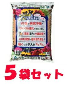 元気にすくすく育てる土 10L × 5袋セット 培養土 野菜 花 土 用土 軽量 軽い 緩効性肥料 長く効く 元肥
