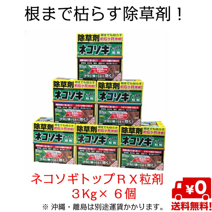 ネコソギトップRX粒剤3Kg箱入り×6個セット除草剤・粒剤タイプ
