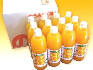 愛媛の100% でこぽん(不知火)ジュース 500ml 12本 愛媛県産 無添加 無香料 防腐剤不使用 柑橘 ストレート果汁
