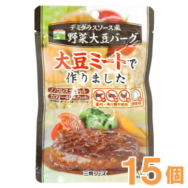 【まとめ買い】デミグラスソース風野菜大豆バーグ(100g)【15個セット】【三育フーズ】□