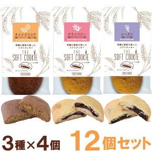 ソフトクッキー(オレンジココア・クランベリー・レーズン)【各4個セット】【クロスロード】