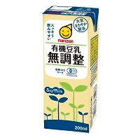 有機豆乳・無調整(200ml)【マルサン】□