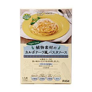 【9月新商品】植物素材のカルボナーラ風パスタソース(レトルト)(150g)【創健社】