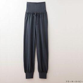TAKEFU竹布 リラックスパンツ レディース スモーキーネイビー(M〜L)【ナファ】