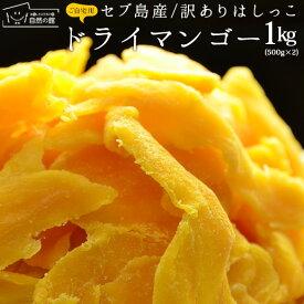 マンゴー 1kg(500g×2) 訳あり セブ島 ドライマンゴー ゆうパケット便 端っこ 不揃い スイーツ ドライフルーツ マンゴー 送料無料