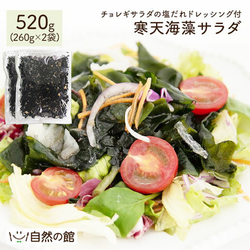 \お得な2個セット 断然オトク/送料無料 サラダが簡単♪購入者絶賛レビュー評価4.62! 寒天海藻サラダ メガ盛合計520g(260g×2) [ダイエット 美味しいサラダ わかめ ワカメ 海藻サラダ 寒天 かんてん 若布 業務用 健康 料理 おかず]
