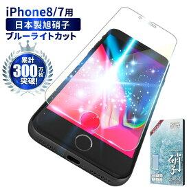 iPhone8 iPhone7 ガラスフィルム 保護フィルム 目に優しい ブルーライトカット フィルム ガラスフィルム 液晶保護フィルム 保護ガラス アイフォン 8 7 iphone 8 7 フィルム シズカウィル shizukawill