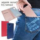 AQUOS sense3 SHV45 SH-02M SH-RM12 sense2 SHV43 SH-01L simフリー SH-M08 R3 SH-04L SHV44 アクオスR3 手帳型 ケース カバー Rose Pink スリム ケース ピンク色 ストラップホール センス3 センス2 3lite ケース アール3 手帳ケース シズカウィル(shizukawill)