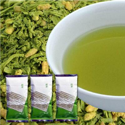 静岡茶舗の日本茶(緑茶)特選抹茶入り玄米茶3袋パック