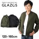 【セール】【GLAZOS】MA-1ジャケット 子供服 男の子 カジュアル アメカジ キッズ ジュニア アウター ブルゾン トレンド 120cm 130cm 140cm 150cm 160cm グラソス 秋冬