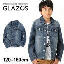 【セール】【GLAZOS】ヴィンテージ風デニムジャケット 子供服 男の子 カジュアル アメカジ キッズ ジュニア はおり 長…