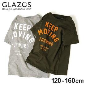 f16b444c80cf1  GLAZOS フロッキーロゴ半袖Tシャツ 子供服 男の子 カジュアル アメカジ キッズ ジュニア 120cm