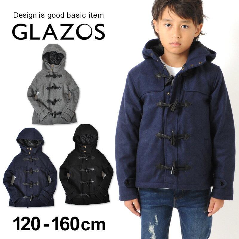 【GLAZOS】メルトン・ダッフルコート 子供服 男の子 カジュアル アメカジ キッズ ジュニア アウター 120cm 130cm 140cm 150cm 160cm グラソス