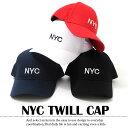 【あす楽】【GL Select】NYCツイルキャップ[4色展開] 子供服 男の子 女の子 キッズ ジュニア 帽子 刺繍