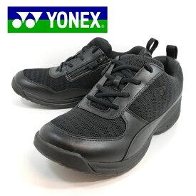 ヨネックス ウォーキング シューズ MC89 靴 幅広 ブラック ファスナー 【メンズ】