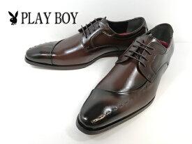 プレイボーイ PLAYBOY 726-220 ダークブラウン D-BROWN 紳士靴 ビジネスシューズ 3E 防水 冠婚葬祭 【メンズ】