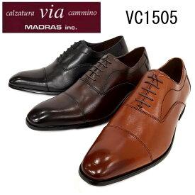 【在庫通常納期】VIA CAMINO MADRAS VC1505 マドラス ビアカミーノ 本革 ストレートチップ ビジネスシューズ 革靴 【メンズ】