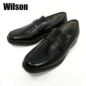 ウィルソン Willson 282-100 ブラック ローファー 防水 ビジネス 紳士 3E 幅広 屈曲 【メンズ】