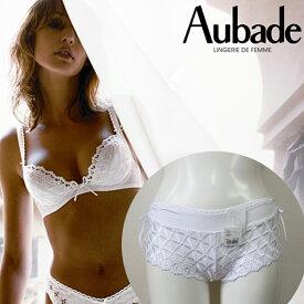 【送料無料】Aubade BAHIA オーバドゥ バイア ボクサーショーツ 5070 [ホワイト/ブラック]エレガントでフェミニンなフランスインポートランジェリー