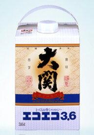 大関 エコエコ 3.6Lパック やや辛口 清酒 日本酒