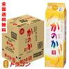 【送料無料】かのか麦25度甲乙混和焼酎紙パック1.8L×6本1ケース1800mlアサヒむぎ焼酎