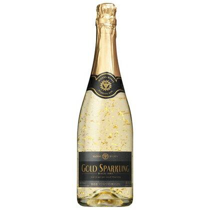 マンズ ゴールド スパークリング ブラックラベル ワイン 720ml【金箔入り】 ギフト※12本まで送料1口となります。
