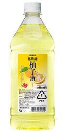 ニッカ 果実の酒 柚子酒15度 1800ml ペットボトル リキュールアサヒ カクテルコンク 業務用