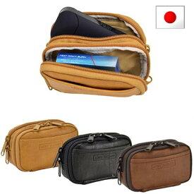 ウエストバッグ ウエストポーチ ベルトポーチ メンズ 日本製 豊岡製鞄 薄型 薄マチ ブラック室式/iQOSポーチ アンディハワード/ANDY HAWARD