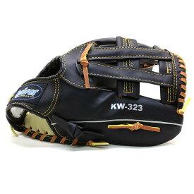 グローブ 野球 軟式 一般 成人用 黒 12インチグローブ左手装着用 右投げ用