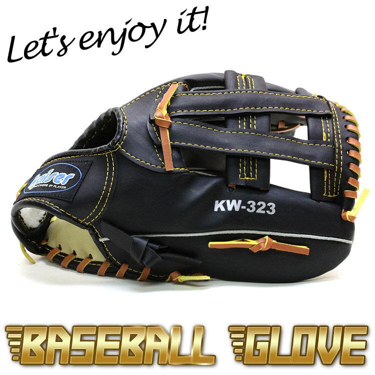 グローブ 野球 軟式 一般 成人用 用 黒 12インチ【品番146】グローブ左手装着用 右投げ用