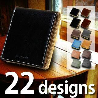 二つ折り財布 折り財布 メンズ ブランド 本革 牛革 レザー box型 小銭入れあり 送料無料軽量 コンパクト 多収納 高コスパ ラッピング