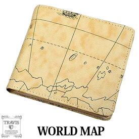 e24ffa17f6ee 二つ折り財布 大人気の世界地図柄横型BOX式小銭入れショートウォレット