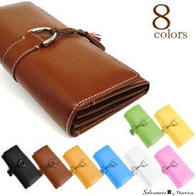 長財布 レディース タッセルSalvatore Marra サルバトーレマーラブランド牛革使用の高級長財布正面のタッセルがキュートで大人気