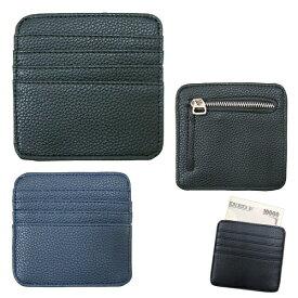 小さい財布 小型マルチケース 小銭入れ コインケース 札入れ ブラック ネイビー