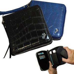IQOS アイコス 専用ケース ストラップ付き 牛革 クロコ型押し IQOS アイコス ケース レザー 財布型 ヒートスティック クリーナー