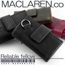 【お一人様1点限定特価セール】MACLAREN.COからソフトレザーマルチキーケースが登場【ブラック】【RCP】