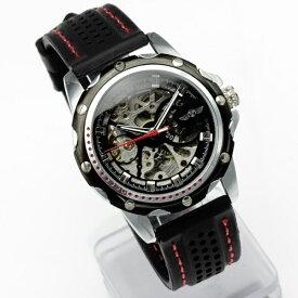メンズ 腕時計フルスケルトン自動巻き腕時計