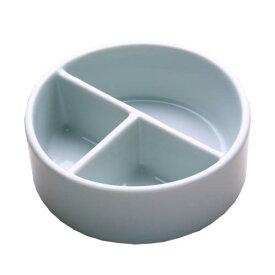 墨運堂 陶器 丸筆洗 3穴 12.0cm (26506)