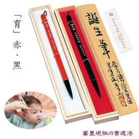 あかしや誕生筆(あかちゃん筆)桐箱入り・試書大色紙(掛軸タトウ付き)育 軸色選択 (900003s) 赤ちゃん 筆 赤ちゃん筆 胎毛筆 髪の毛 記念