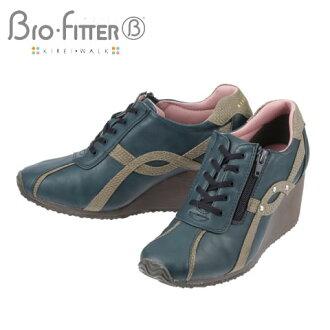 [baiofittakireiuoku]Bio Fitter BFL18794女士  鞋跟提高运动鞋  深蓝
