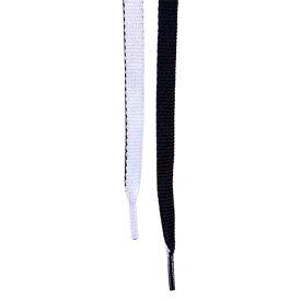 ライカ LEICA 65260 靴ひも 平紐 120cm シューレース リバーシブル ブラック