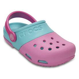 [マラソン中ポイント5倍][クロックス] crocs 15608 キッズ ジュニア | クロッグサンダル | electro 2.0 clog | エレクトロ 2.0 クロッグ | 子ども靴 女の子 | チェリー×アイス