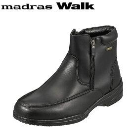 [マラソン中ポイント5倍]マドラスウォーク madras Walk ブーツ SPMW5479 メンズ 靴 シューズ 4E相当 ショートブーツ 防水 幅広 防滑 歩きやすい 仕事 通勤 ビジネス ブラック