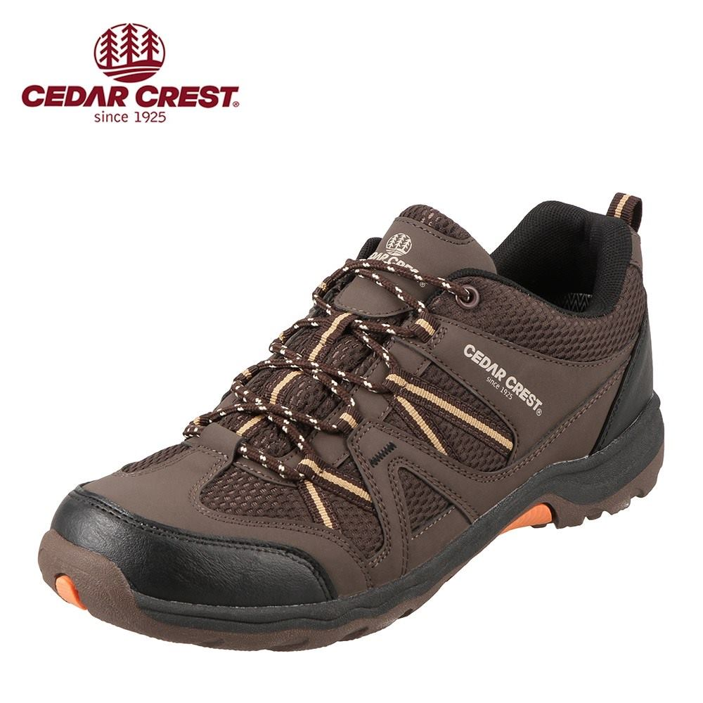 セダークレスト ワークライン CEDAR CREST スニーカー CC-9221 メンズ靴 靴 シューズ 2E相当 トレッキングシューズ 防水 アウトドア ローカット スニーカー 登山 ハイキング 大きいサイズ対応 28.0cm ダークブラウン