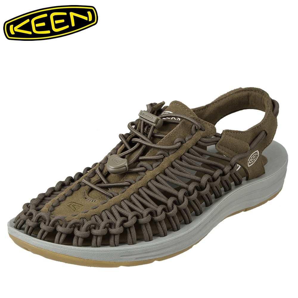 [全商品ポイント5倍]キーン KEEN サンダル 1017033 メンズ靴 靴 シューズ 2E相当 スポーツサンダル アウトドア キャンプ レジャー ユニーク 大きいサイズ対応 28.0cm 29.0cm グリーン