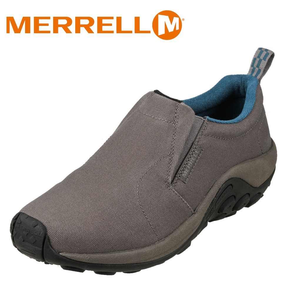 [マラソン期間中ポイント5倍]メレル MERRELL ウォーキングシューズ 598685 メンズ靴 靴 シューズ 2E相当 スリッポン モック シューズ ローカットスニーカー 軽量 サイドゴア 大きいサイズ対応 28.0cm 29.0cm 30.0cm ライトグレー