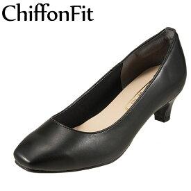 シフォンフィット Chiffon Fit パンプス AAG CF6 レディース靴 靴 シューズ 2E相当 アーモンドトゥパンプス ローヒール 日本製 国産 軽量 クッション性 ブラック