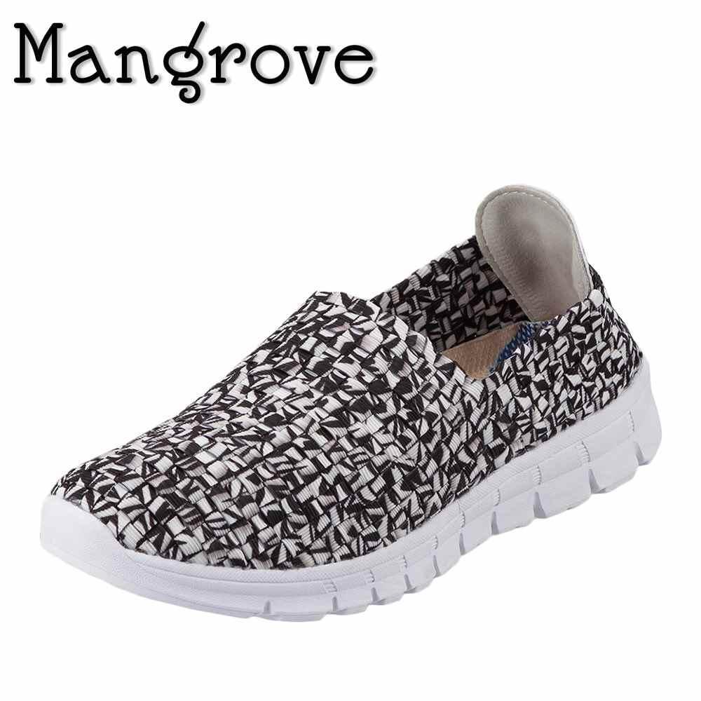 マングローブ Mangrove カジュアルシューズ 3195 レディース靴 靴 シューズ 2E相当 スリッポン カジュアルシューズ 編み込み おしゃれ 軽量 通気性 小さいサイズ対応 22.0cm 22.5cm 大きいサイズ対応 25.0cm 25.5cm ブラック