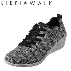 キレイ・ウォーク KIREI・WALK カジュアルシューズ BFK-003 レディース靴 靴 シューズ ローカットスニーカー ウェッジソール ニットスニーカー 軽量 軽い アスレジャー 美脚 歩きやすい おしゃれ 大きいサイズ対応 25.0cm グレー